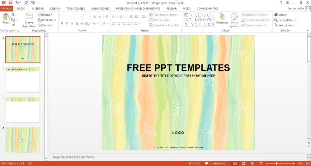 Plantilla power point colores abstractos, ppt ideal para presentaciones de arte y educacion.