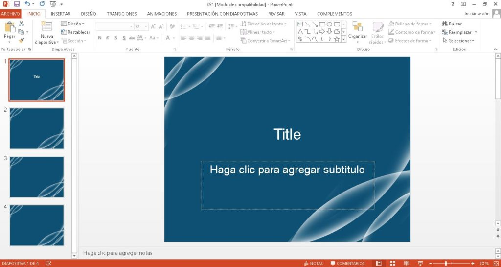 Plantilla power point azul en forma de adn para fisica.