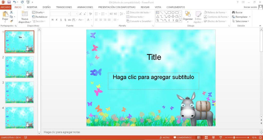 Plantilla De Jardin Para PowerPoint