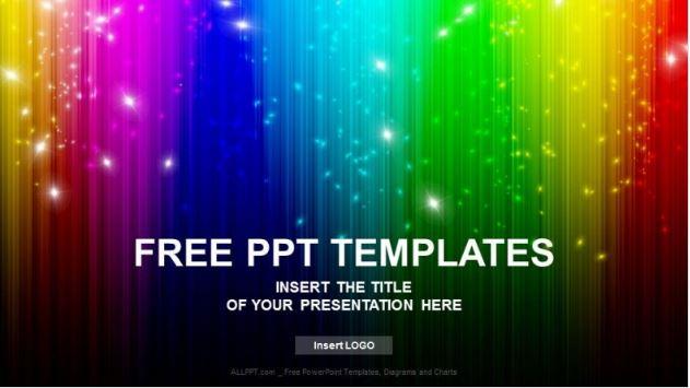 Plantilla arco iris negro Powerpoint