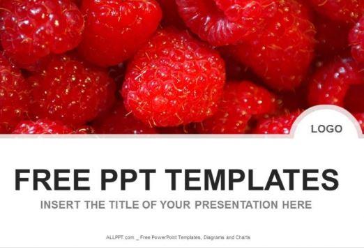 Plantilla Fresas Powerpoint