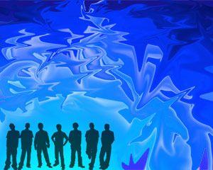 PPT azul para gente