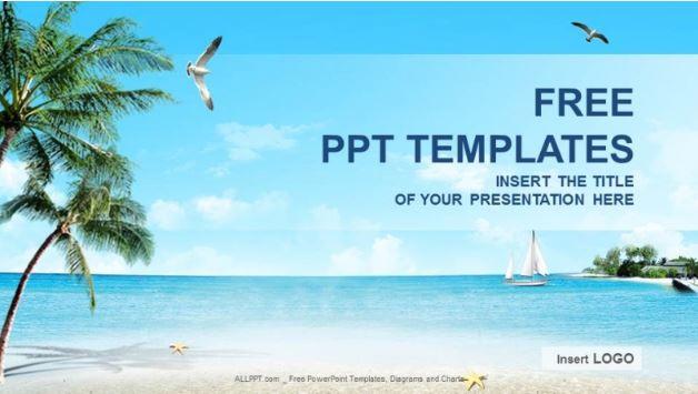 Plantilla playa natural