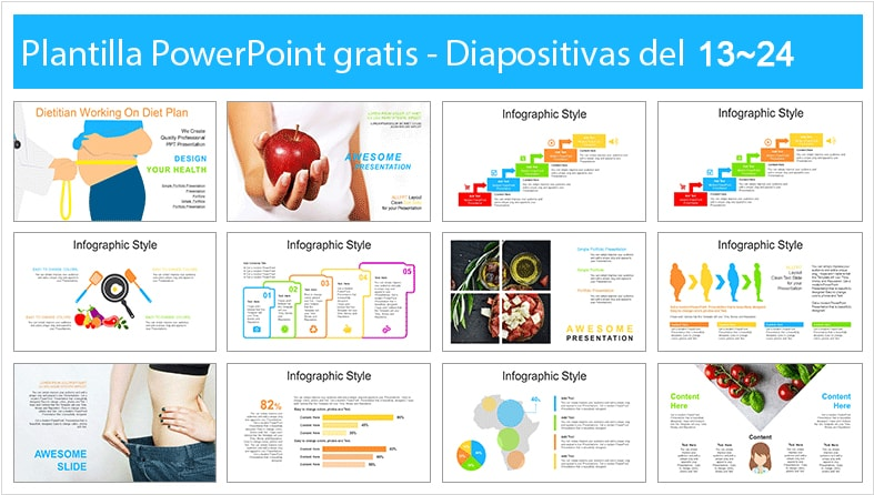 Diet and nutrition power point template free.