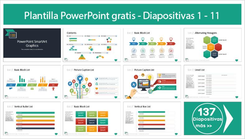 Gráficos SmartArt para Power Point para descargar gratis ppt.