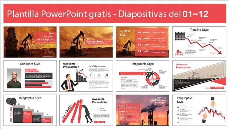 Petroleum Power Point Template free.