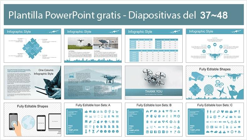 diapositivas de drones.