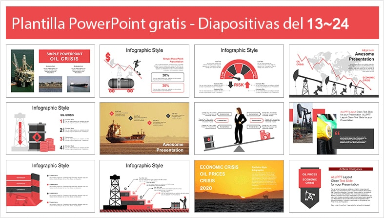 Plantilla power point de la crisis del petroleo en powerpoint.