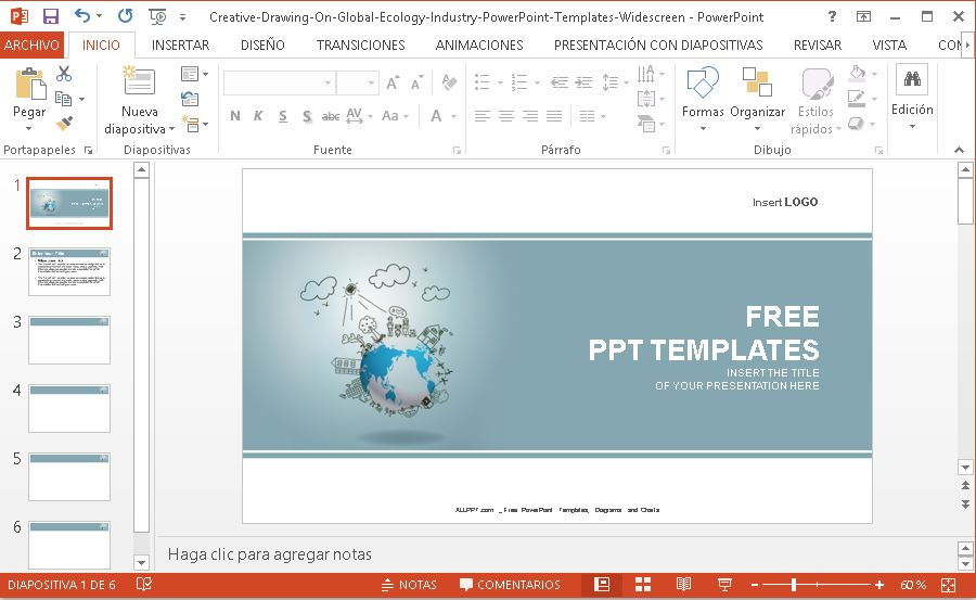 Plantilla Power point mundo creativo, descargar gratis.