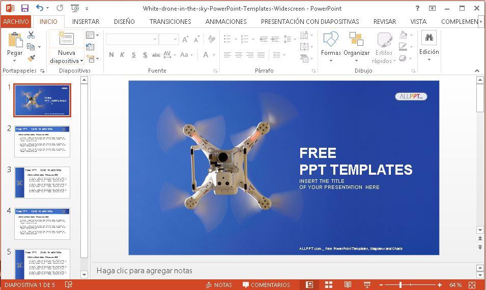 Plantilla para Power Point de drones.