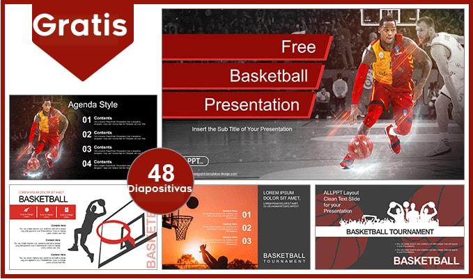Plantilla power point de baloncesto gratis.