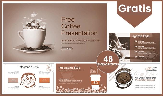 plantillas power point de cafe gratis.