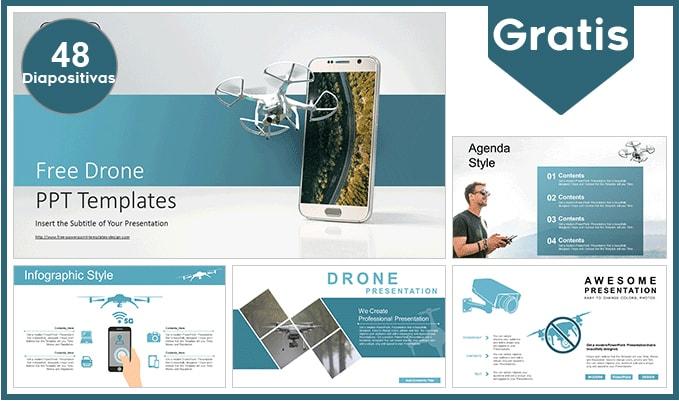 plantilla power point de drone gratis.