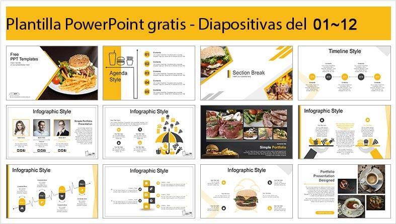 plantilla power point de hamburguesa para descargar gratis.