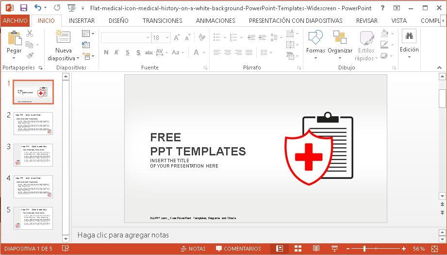 Plantilla para Power Point Icono Medico.