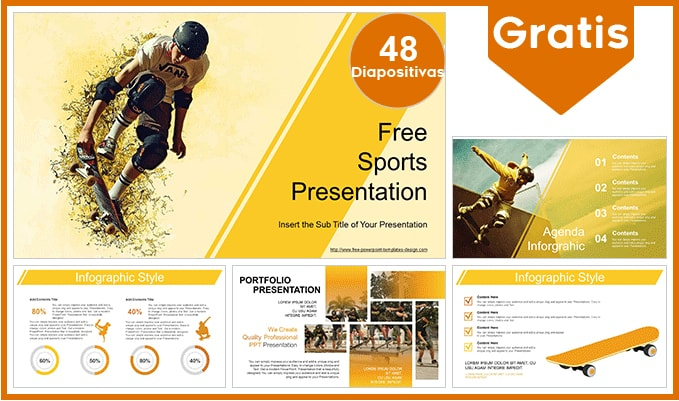 Plantilla power point de Skate gratis.