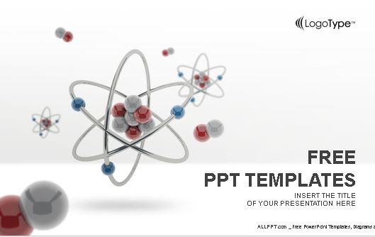Plantilla de atomos para powerpoint.