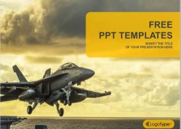 Plantilla Jet Fighter para Powerpoint.