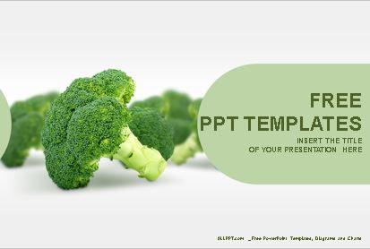 Plantilla de Broccoli para powerpoint,