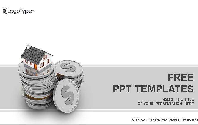 Plantillla de casa y dinero para Powepoint.