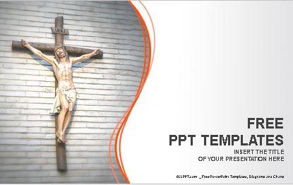 Plantilla power point cruz de jesus para descargar gratis.