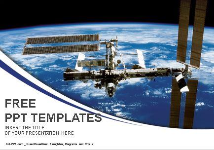 Plantilla de estación espacial para powerpoint.