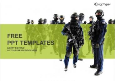 Plantilla de las fuerzas especiales para Powerpoint.