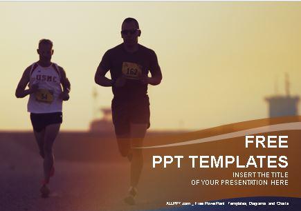 Plantilla de maraton para powerpoint,