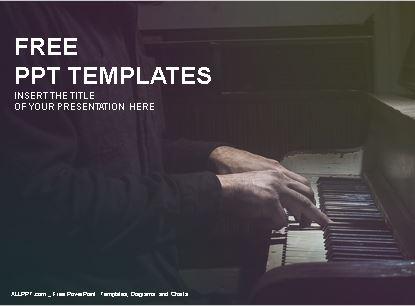 Plantilla musico de piano para powerpoint.