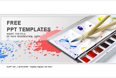 Plantilla de paleta de colores para Powerpoint.