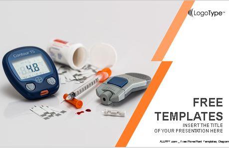 Plantilla de diabetes para PowerPoint.