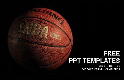 Plantilla pelota de basketball para powerpoint.