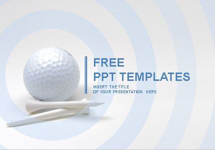 Plantilla de pelota de golf para Powerpoint.