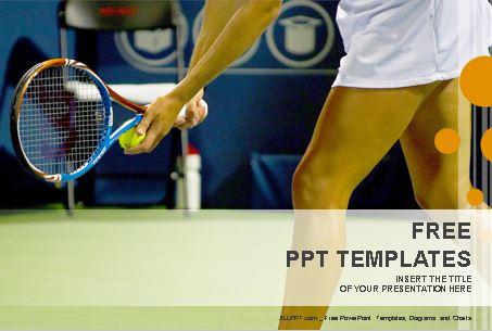 Plantilla powerpoint jugadora de tenis.