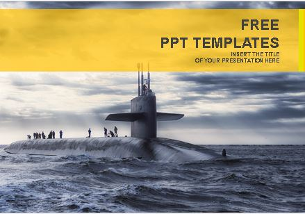 Plantilla de submarino para Power Point.