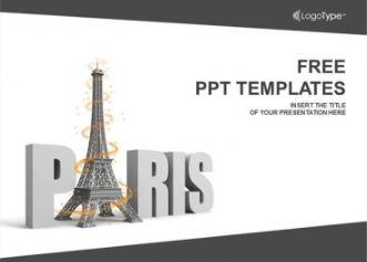 Plantilla Paris torre Eiffel para Power Point.