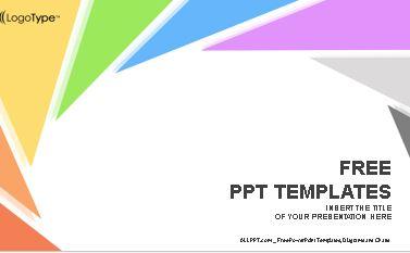 Plantilla triangulo de colores para Power Point