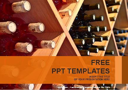 Plantilla de vino para Powerpoint
