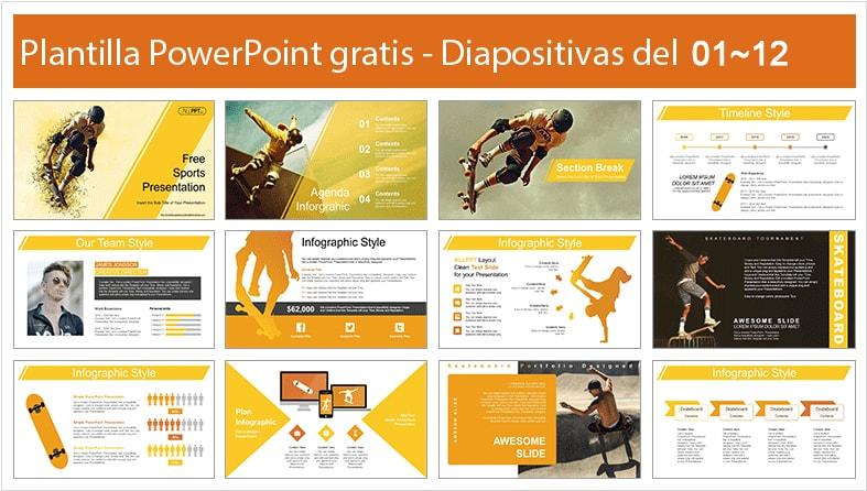 Skateboard power point template free.