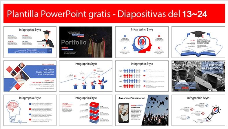 Graduation power point template free.