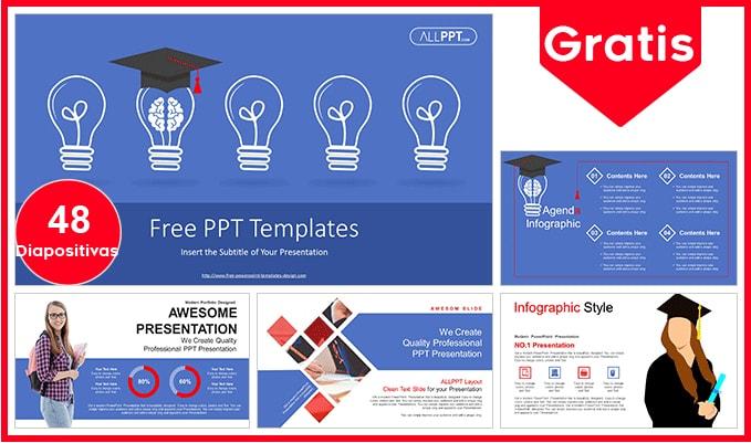 Plantilla power point de graduacion gratis.