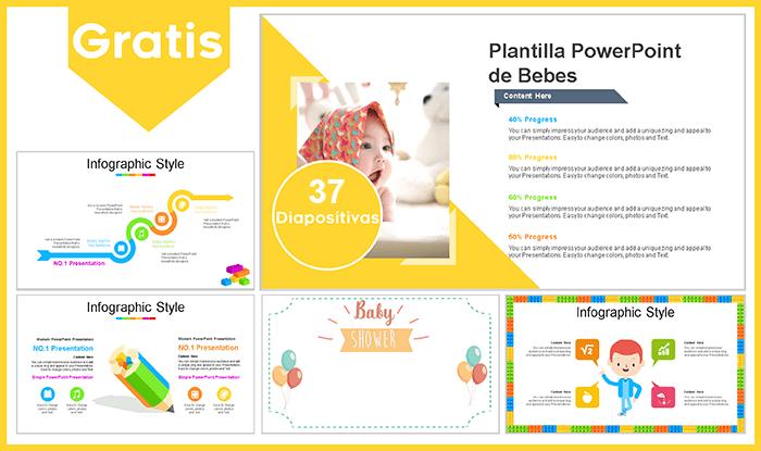 Plantilla de powerpoint para bebes.