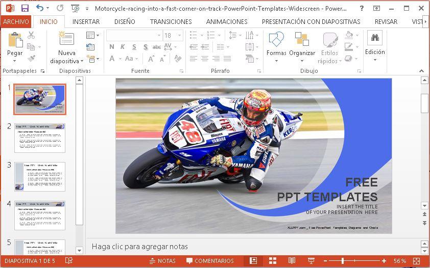 Plantilla para Power Point de motociclismo.