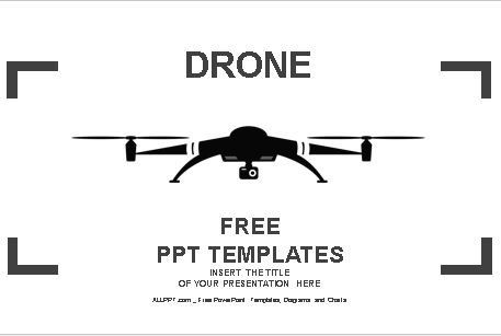 Plantilla de icono de drone para powerpoint.