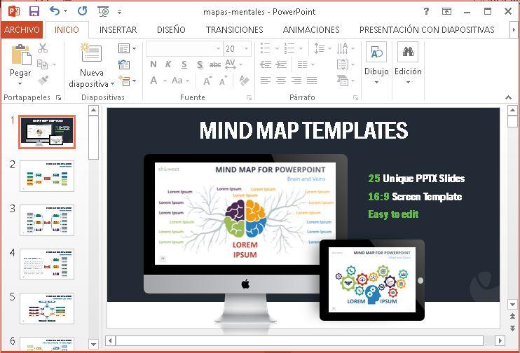 Mapas mentales para powerpoint y word.