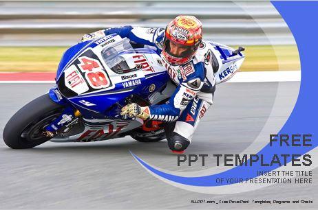 Plantilla de motociclista en una carrera de motos.