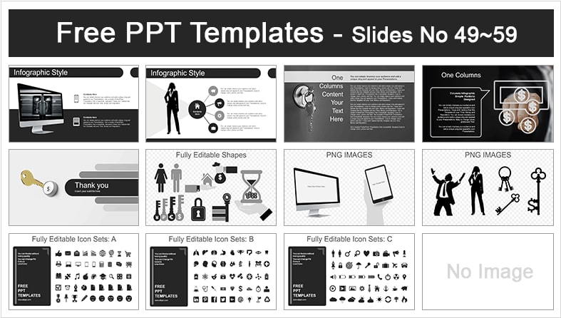 Diapositivas de finanzas color negro.