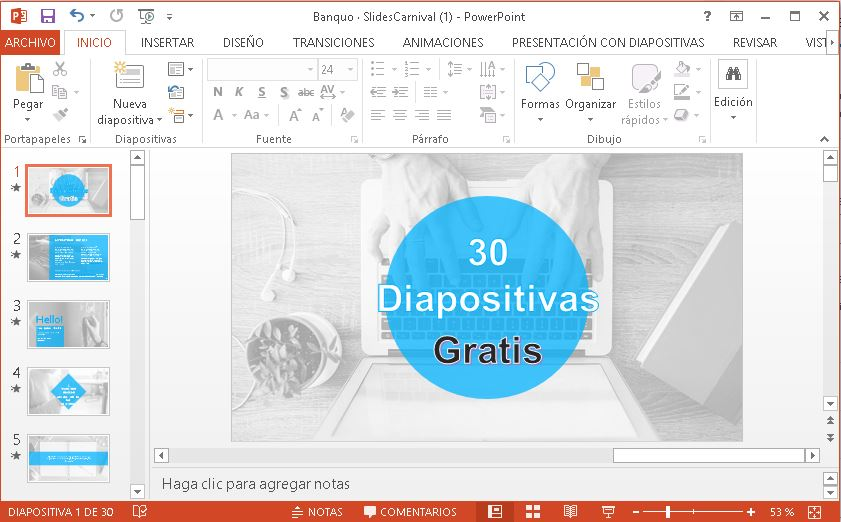 Plantilla corporativa para Power Point.