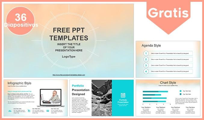 Plantilla colores pasteles gratis para powerpoint.