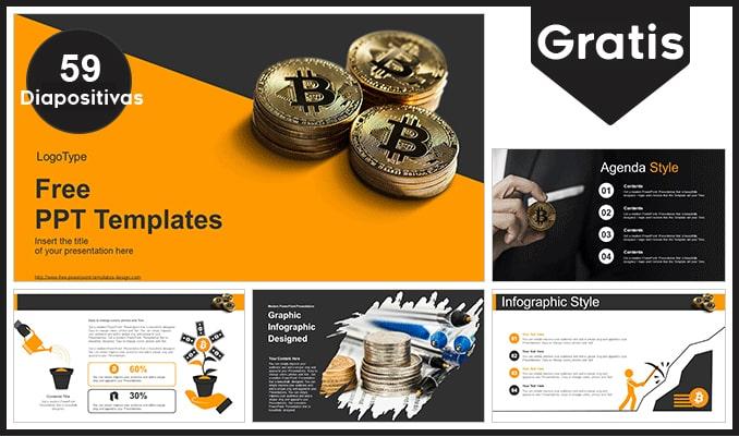 Plantilla de bitcoin para Powerpoint gratis.